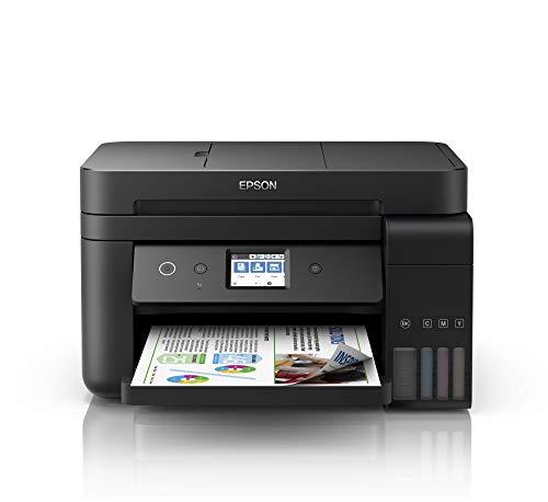 Epson EcoTank ET-4750 4-in-1 Tinten-Multifunktionsgerät (Kopierer, Scanner, Drucker, Fax, A4, ADF, Duplex, WiFi, Ethernet, Display, USB 2.0), großer Tintentank, hohe Reichweite, niedrige Seitenkosten