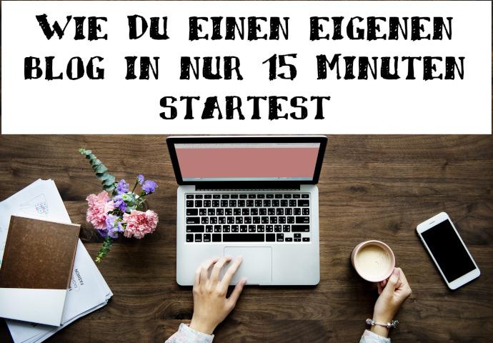 Bloggen in 15 Minuten starten